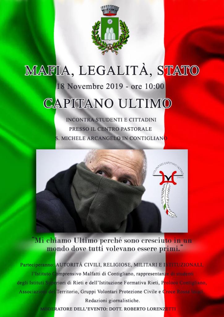 Mafia, Legalità, Stato – CAPITANO ULTIMO