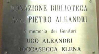 Inaugurazione della Sala dedicata alla Donazione Avv.to Pietro Aleandri