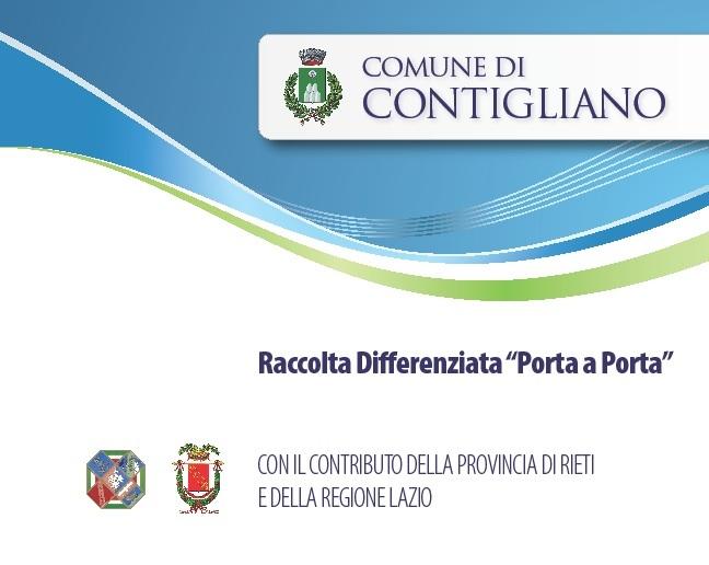 """RACCOLTA DIFFERENZIATA """"PORTA A PORTA"""" – 1 dicembre 2012 INIZIO RACCOLTA zone frazioni"""